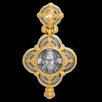Крест-мощевик «Спас Нерукотворный»