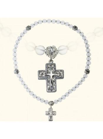 Православные четки с Крестом из горного хрусталя