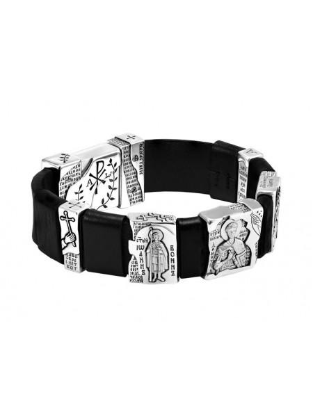 """Православный браслет """"Святые воины"""" с образами святых и молитвами"""