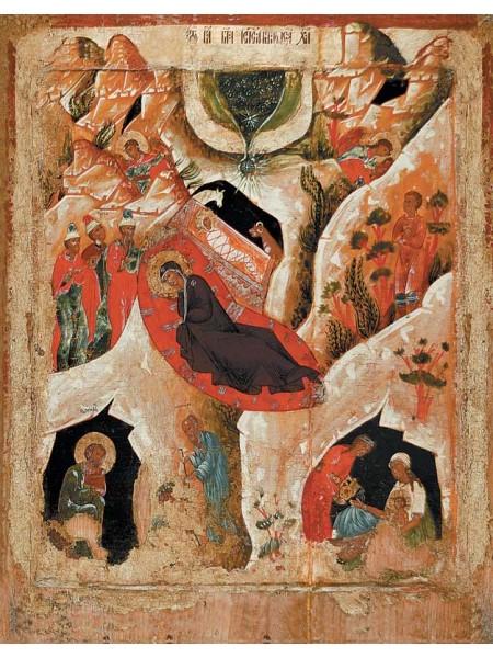 """Икона """"Рождество Христово"""". Вторая половина 17 века"""