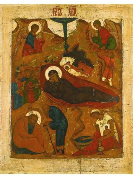 Икона Рождество Христово, XVII век