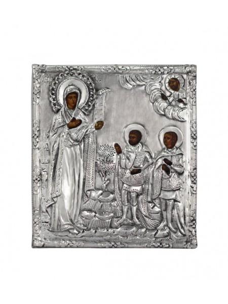 """Икона Божией Матери """"Боголюбская"""", посеребрённый оклад"""