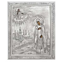 Икона Святая Анна Кашинская, посеребрённый оклад