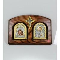 Икона Двойная Богоматерь Умиление - Николай Чудотворец