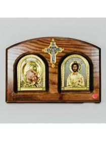 Икона Двойная Богоматерь Умиление - Господь Вседержитель