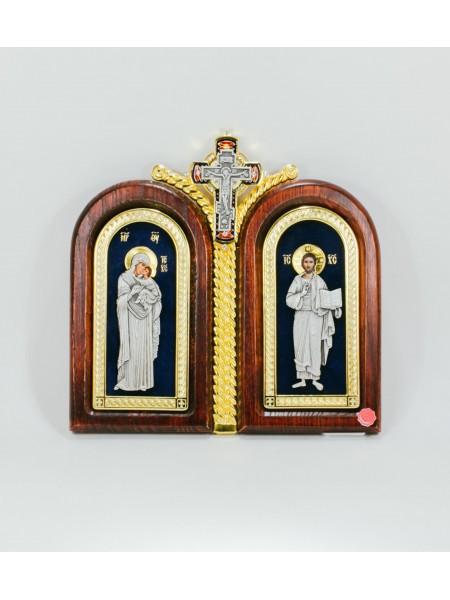 Икона двойная -Божья Матерь Умиление - Господь Вседержитель