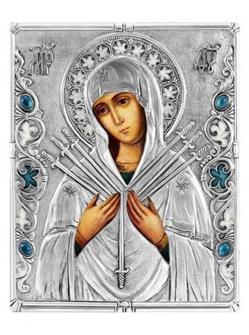 Икона Божией Матери Семистрельная (Умягчение Злых Сердец)
