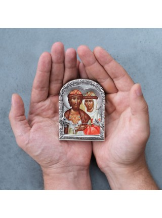 "Арочная икона ""Святые Петр и Феврония"""