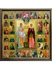 Икона Киприан и Иустина и Собор Святых