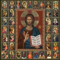 Икона Господь Вседержитель и Собор Пресвятой Богородицы
