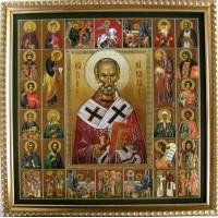 Икона Николай Чудотворец и Собор Святых