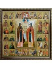 Икона Петр и Феврония Муромские и Собор Святых