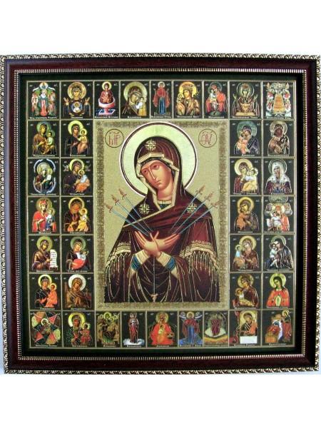 Икона Божией Матери Семистрельная и Собор Пресвятой Богородицы