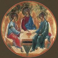 Икона Святая Троица (Рублев)