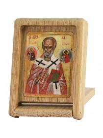 Икона-складень. Святитель Николай Чудотворец, 15 век (ГИМ)