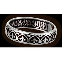 Кольцо. Орнамент Византийский цветок. Иисусова молитва.
