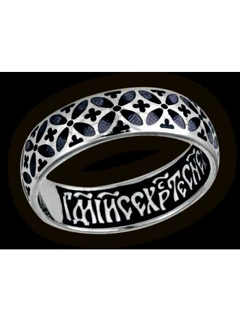 """Православное кольцо """"Орнамент из складывающихся в круги крестоцветов"""""""