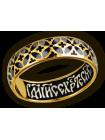 Кольцо. Орнамент из складывающихся в круги крестоцветов. Иисусова молитва.