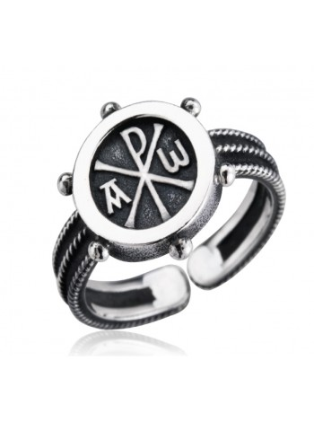"""Православное кольцо """"Альфа и Омега"""""""