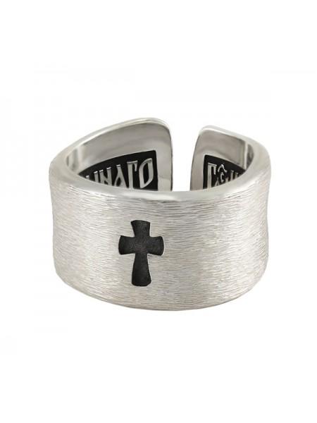 """Кольцо """"Наперстная молитва с крестом"""""""