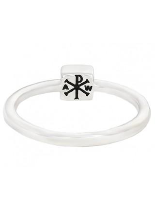 Православное кольцо с символом Хризма