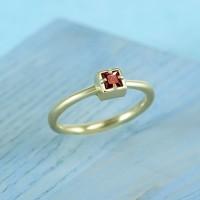 Православное кольцо с символом Хризма из золота