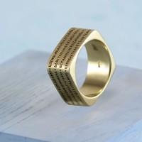 Православное кольцо с молитвой из золота