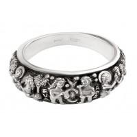 """Православное кольцо с молитвой """"Адам и Ева"""""""