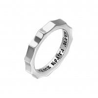 Серебряное кольцо с молитвой