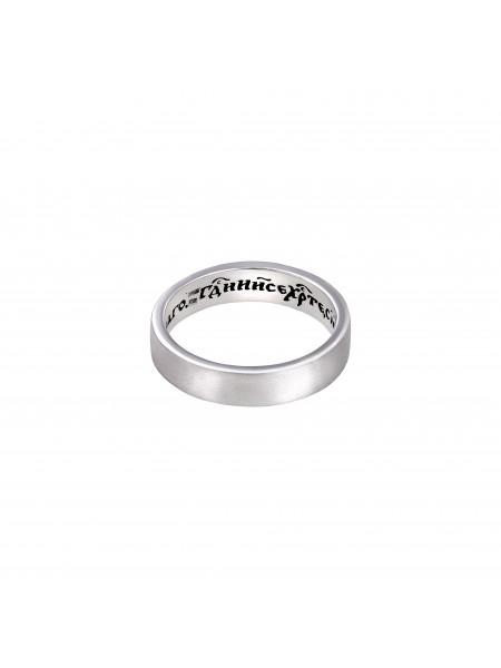 """Серебряное кольцо с молитвой """"Иисусовой"""""""