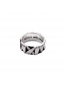 """Серебряное кольцо с молитвой """"Христос мой..."""""""