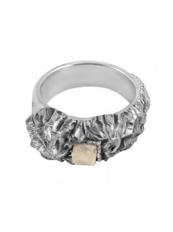 """Паломническое кольцо """"Афон"""" с камнем со святой горы"""