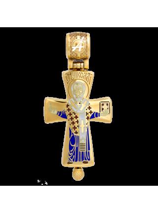 Крест-мощевик «Распятие. Святитель Николай Чудотворец»