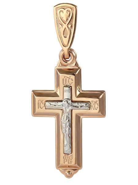 Крестик нательный двойной