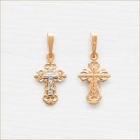 Крестик крестильный комбинированное золото