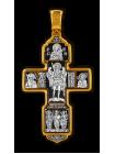 Крест Распятие Христово с предстоящими. Святая Троица. Архангел Михаил. Св. Воины. Тихвинская икона Божией Матери.