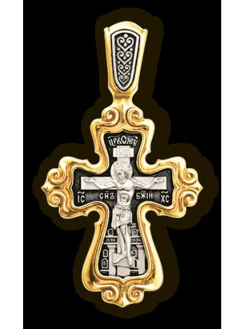 """""""Распятие Христово. Валаамская икона Пресвятой Богородицы с предстоящими свв. Ксенией и Матроной."""""""