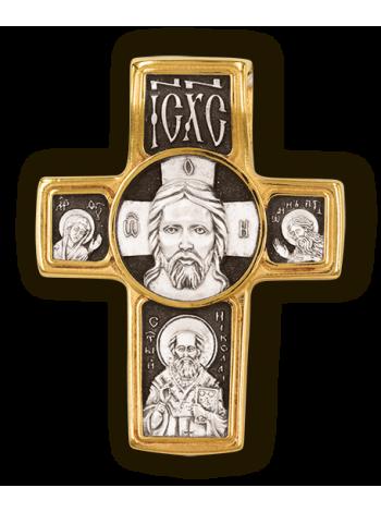 Православный крест. Спас нерукотворный. Святитель Николай. Архангел Михаил.
