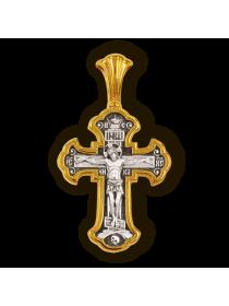 """Православный крест """"Валаамская икона Божией Матери. Архангелы Михаил и Гавриил."""""""