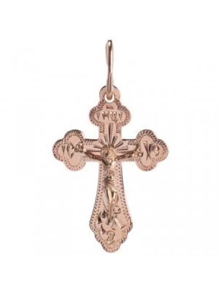 Крест нательный с ручной гравировкой