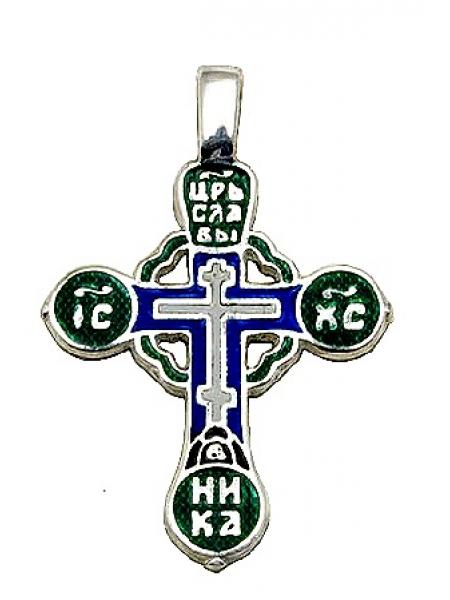 Крест с горячей эмалью