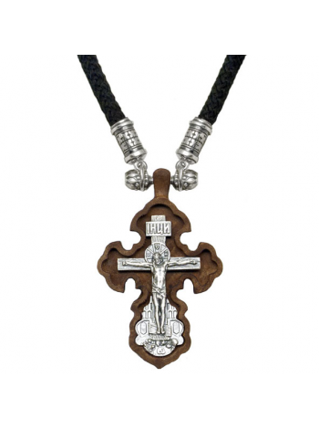 Крест деревянный на шнурке