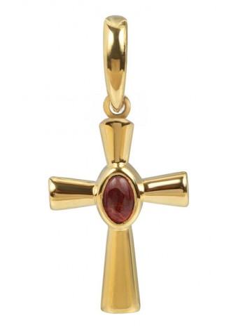 Крест малый с кабошоном