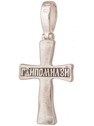 Крест нательный серебряный