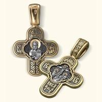 Крест нательный «Распятие Христово. Св. Николай Чудотворец»