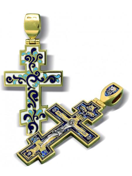 Крест нательный с горячей эмалью