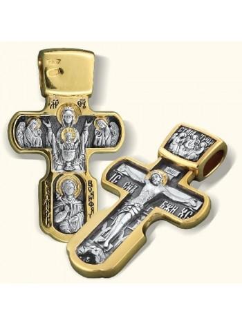 Нательный крест «Неупиваемая чаша»