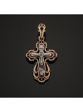 Крестик золотой православный