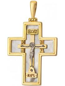 Крест нательный с перламутром