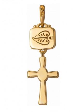Крест с подвеской
